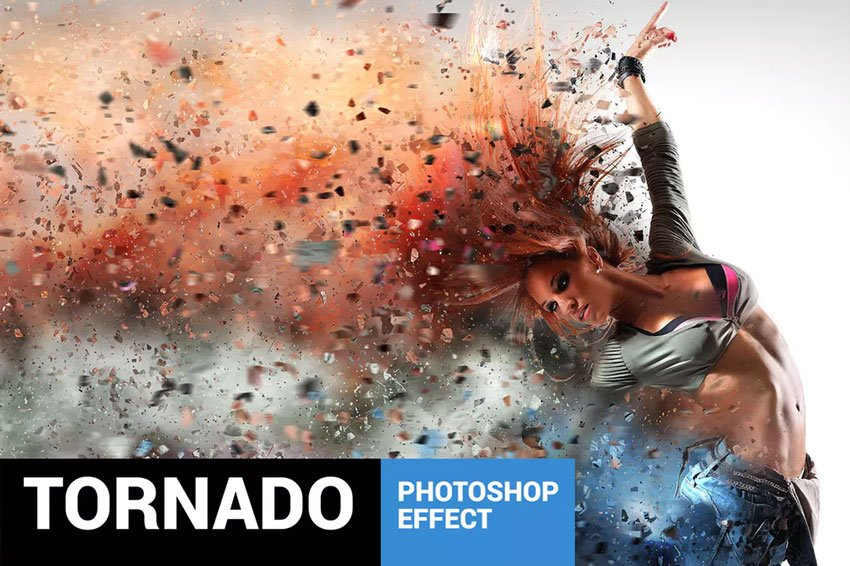 Tornadum - Powerful Dispersion Effect Photoshop Action