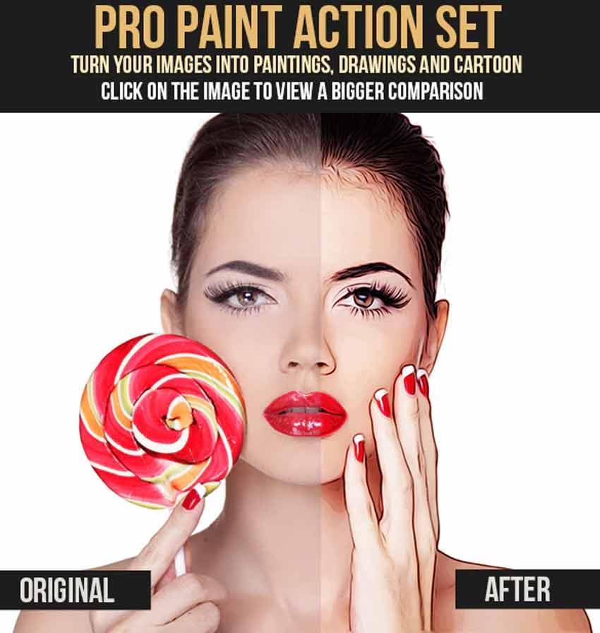 Pro Paint Action Set