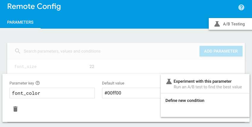 Add value for condition field