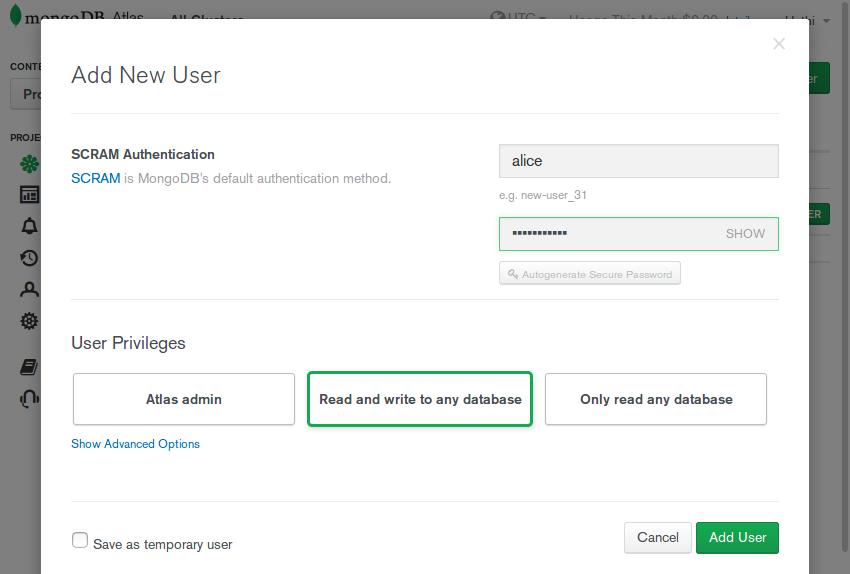 Add new user form