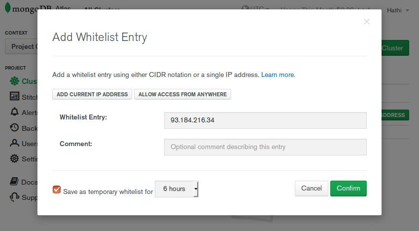 Add whitelist entry form