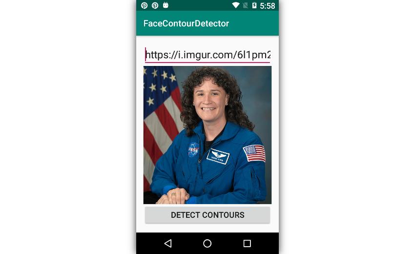 App displaying a photo