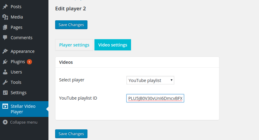 Creating a playlist player