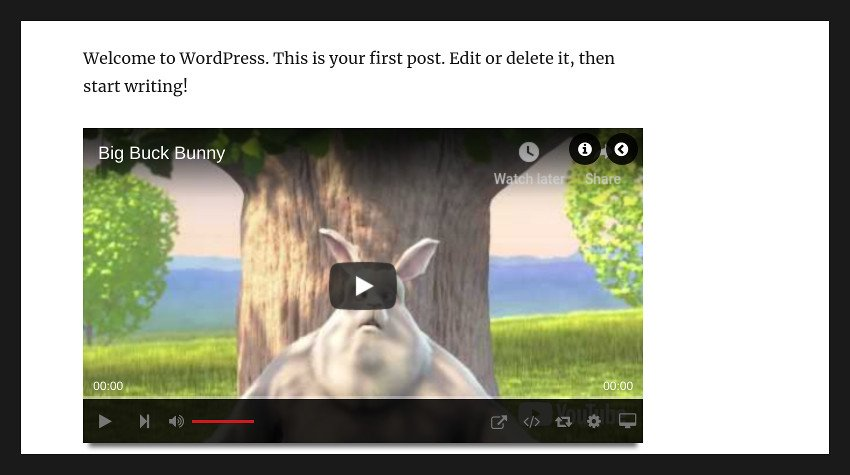 Video player showing a YouTube video