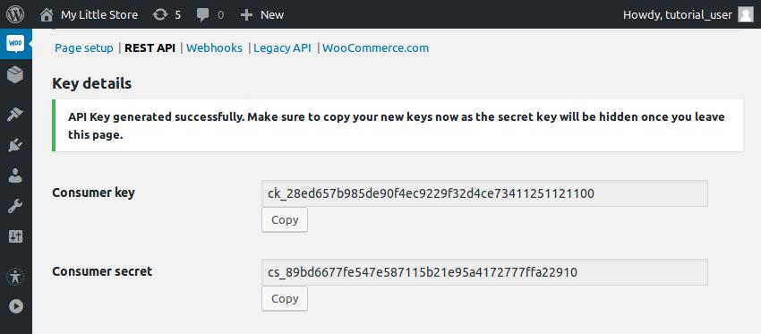 Generated key strings