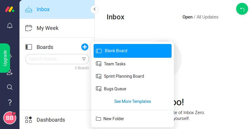 Creating a blank board