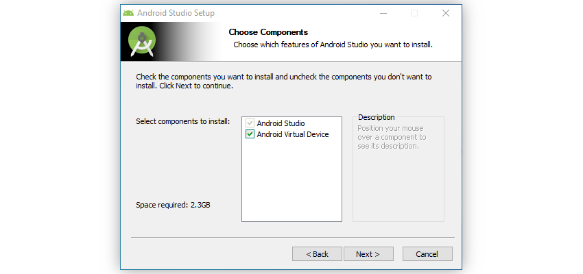 Choose components to install