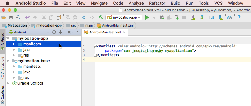 Delete the application block of code from your Manifest