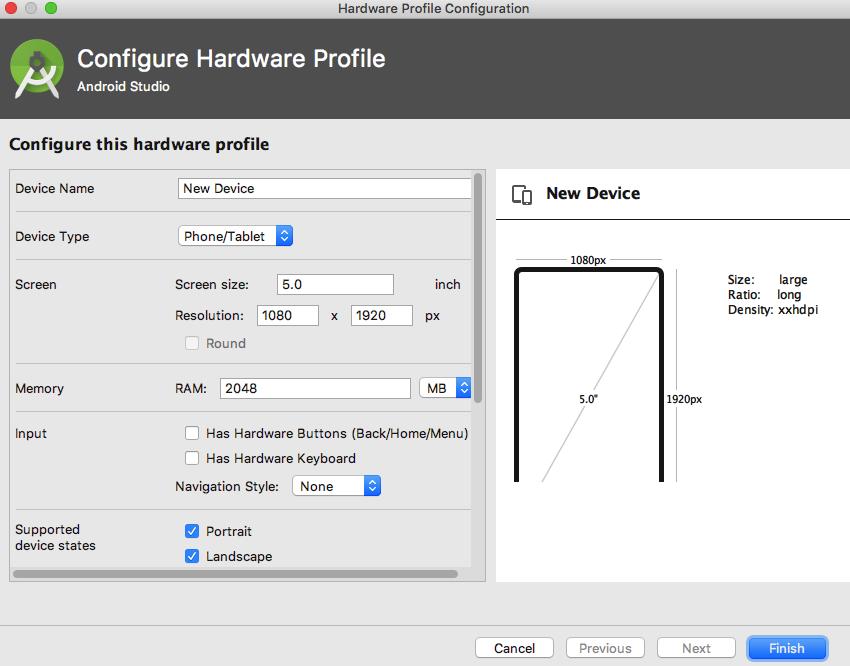 Test your widget across a range of AVDs using the emulator