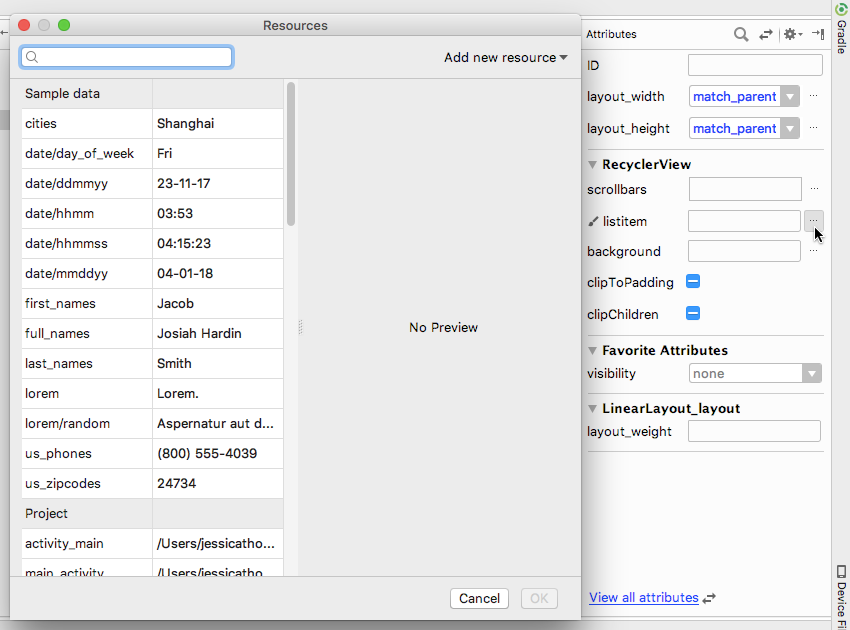 Populate your layouts with a range of sample data