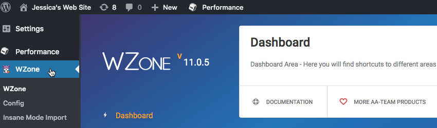 Youll find a new WZone item in your WordPress Dashboard