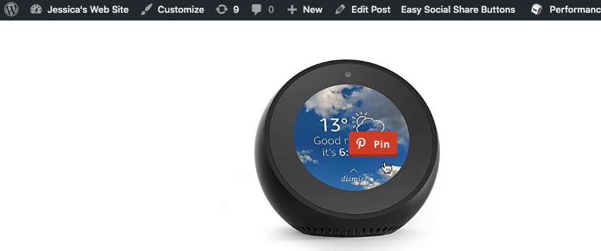 Add a floating Pin button to your website