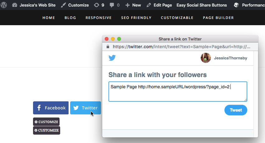 You can add a basic Post to Twitter button to your WordPress website