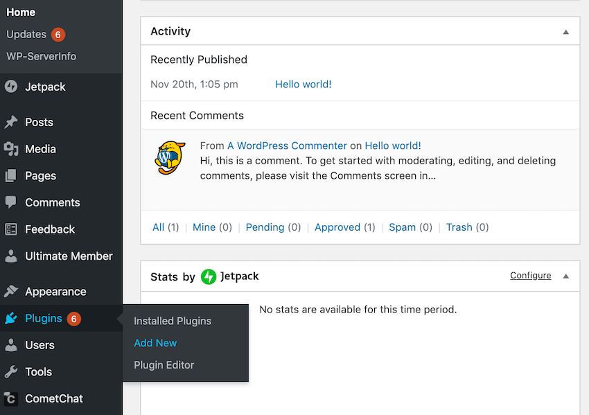 To download and install a plugin from the official WordPress plugin directory navigate to Plugins  Add New