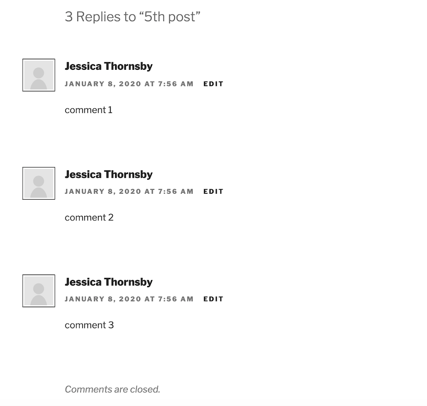 Its possible to close the comments section on a post so you no longer receive any new comments