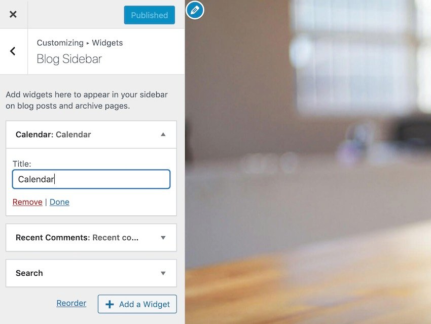 You can edit each widgets title or even remove it entirely using WordPress Customizer