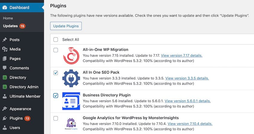 Make sure you have the latest version of all your WordPress themes and plugins