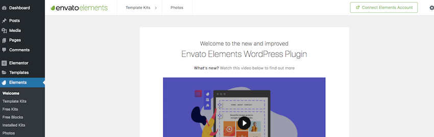 You can access hundreds of Elementor templates by installing the free Envato Elements plugin