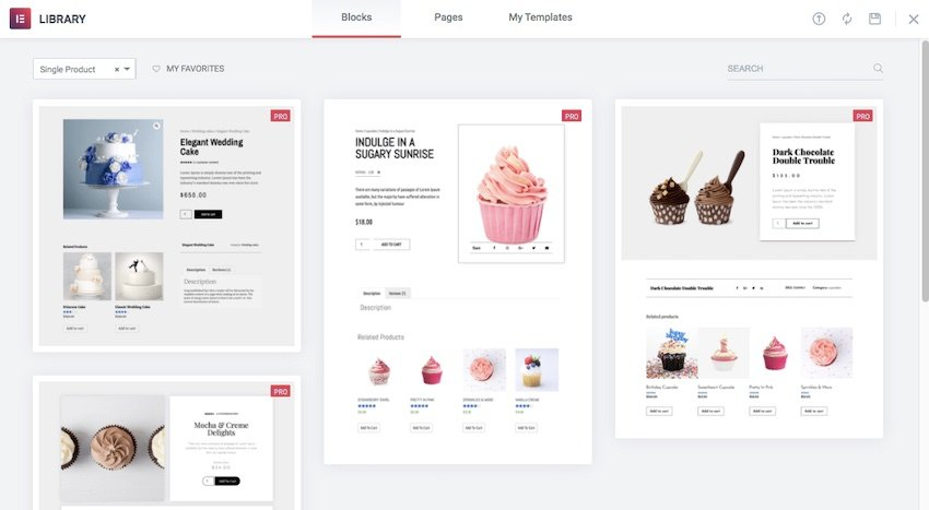 Elementor Pro provides a range of professionally-designed single product pages that you can use in your WooCommerce store