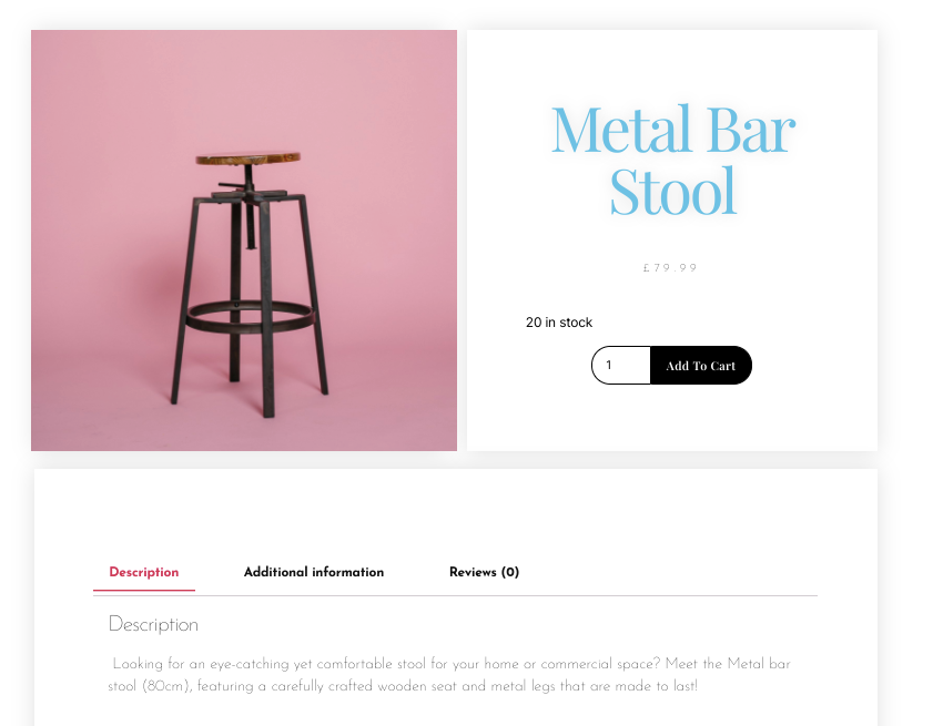 Navigate to any product to see your new design in action