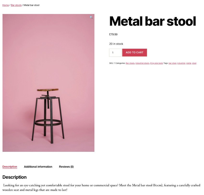 Ive created a simple WooCommerce product using the Single Product settings