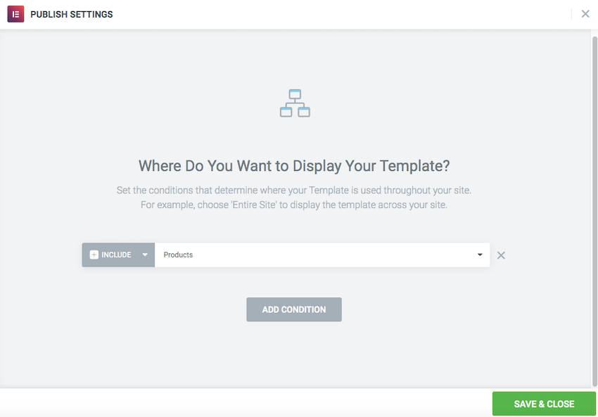Youll need to apply your chosen single product template to all of your Product pages