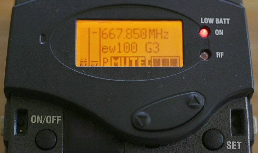 Sennheiser G3 ew100 receiver home screen