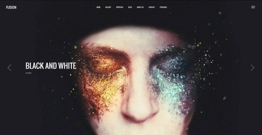 Fusions WordPress photography theme