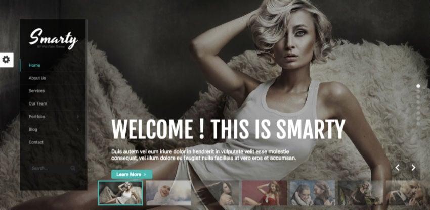 Smarty WordPress theme from Envato
