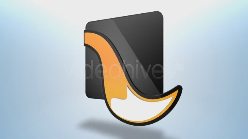 Animated glossy logo