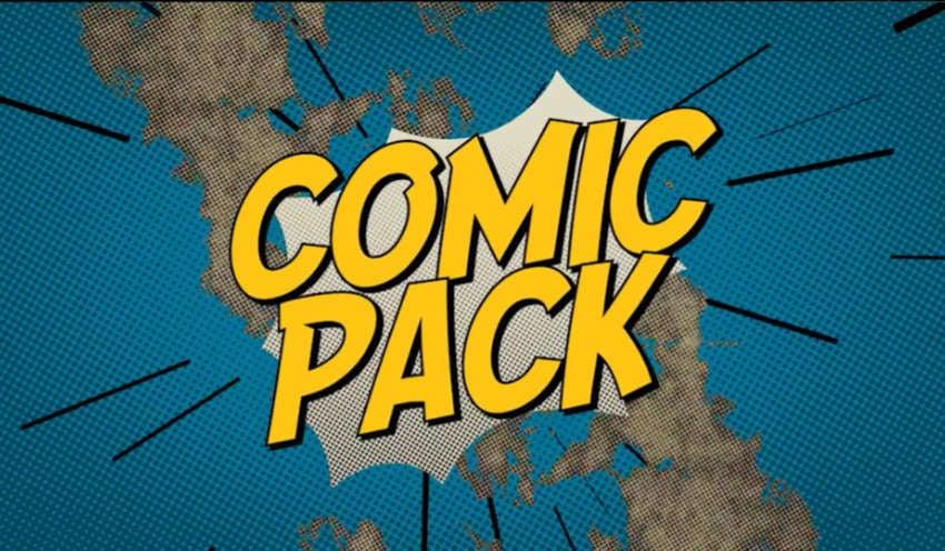 Comic pack word burst