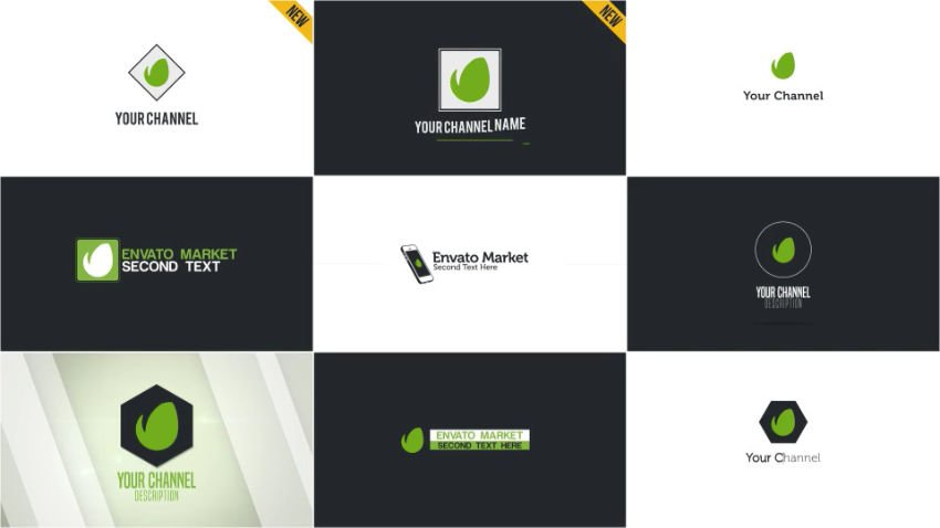 nine logo examples for YouTube uses