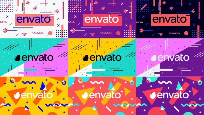the Envato logo in nine styles