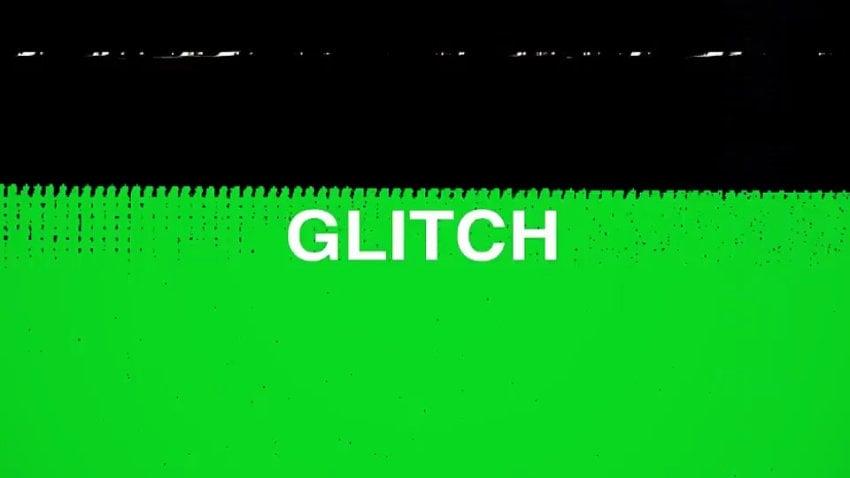 Glitch transitions green on black