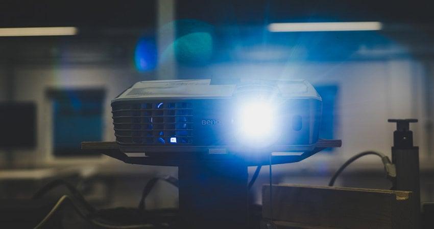 Multimedia projector in an office