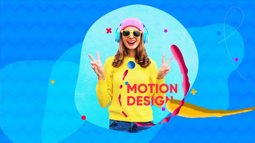 Outro video motion graphic