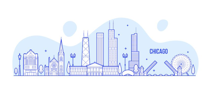 Illustration of the Chicago shoreline