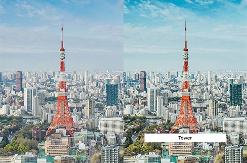 Tokyo daytime scene of tower