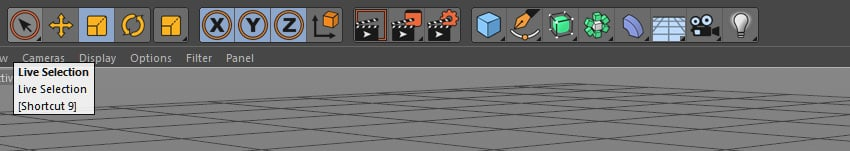 Live selection tool in Cinema 4D