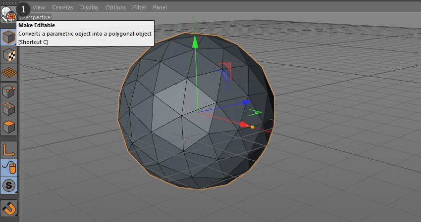 Image showing how to make object editable