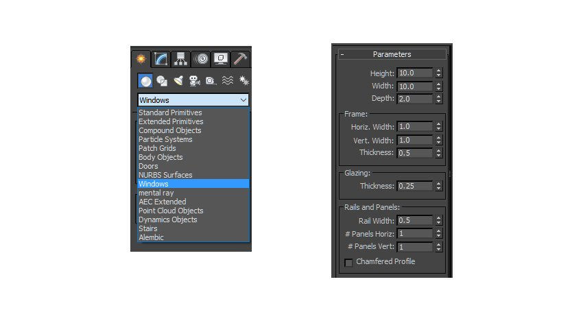 Creating windows in the dropdown menu