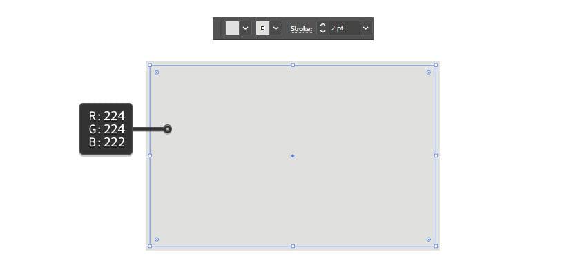 A grey rectangle