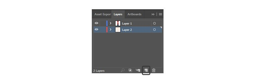 Create a new layer for the background