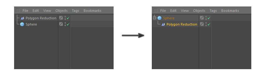 Click and drag the Polygon Reduction
