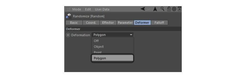 Editing Deformer tab