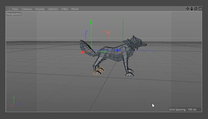 Duplicating the paws and placing them in the correct positions