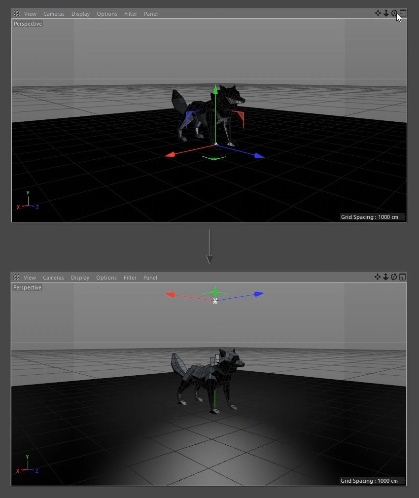 Moving the light object