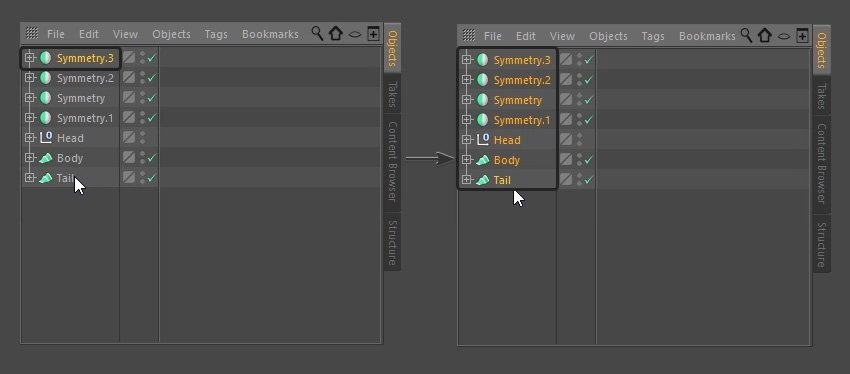 Selecting all objects
