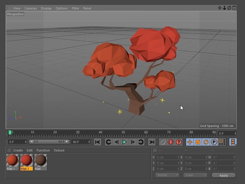 Adding the new materials to the tree leaves