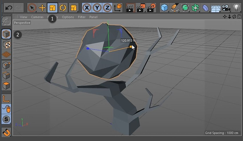 Scaling the sphere object